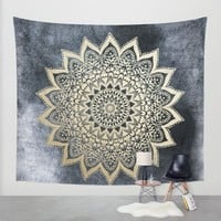 BOHO NIGHTS MANDALA Wall Tapestry by Nika