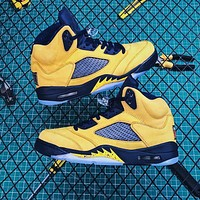 Air Jordan 5 Retro Sp Michigan Inspire | Cq9541-704 Sneakers