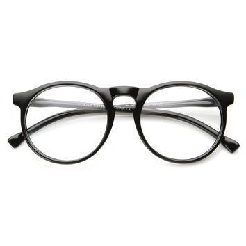 Indie Retro Round Clear Lens Fashion Glasses 8710