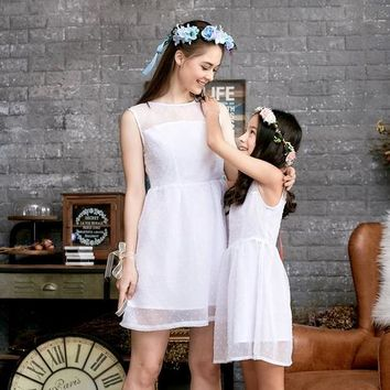 (Set of 2) Ethereal Dotted Mesh Dress