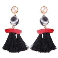 Fringed Tassel Drop Earrings
