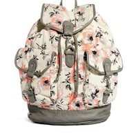 New Look Backpack in Neon Floral Print