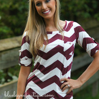 Can't Go Wrong Blouse (WINE)
