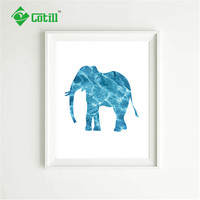 Cotill Design Geometric Elephant Decoration Pictures Canvas Painting Posters No Frame Wall Art Printing