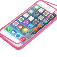Bear Motion for iPhone 6 4.7 Case - Full Body Case Cover for iPhone 6 4.7 Inch Case Cover with Built in Screen Protector (Hot Pink)