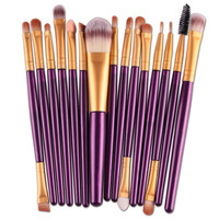 15 pcs/Sets Eye Shadow Foundation Eyebrow Lip Brush Makeup Brushes Tool