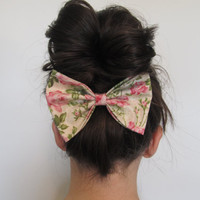 Tea Party Oversized Jumbo Floral Bow