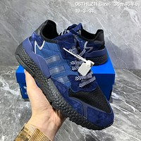 hcxx A1099 Adidas Nite Jogger 2019 EQT Boost Fashion Running Shoes Black Blue
