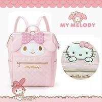Cute Cartoon My Meldoy Hello Kitty Backpack Bags Kawaii Children Schoolbag Women Shoulder Bag Travel For Girls Kid Birthday Gift