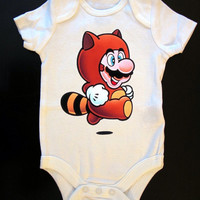 Tanooki Onesuit or Tee by SaucyToT on Etsy