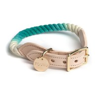 Found My Animal Nautical Rope Dog Collar Teal Ombre   Petswag