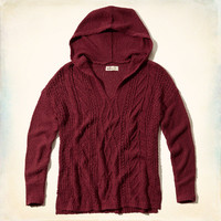 Cable Knit Hoodie