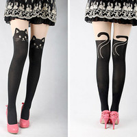 Cat Gipsy Mock Knee High Tattoo Pantyhose