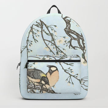 Birds and blossoms Backpack by anipani