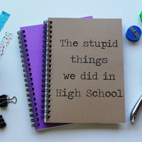 The stupid things we did in high school  - 5 x 7 journal