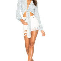 ROLLA'S Layla Blouse in Sky Mirage | REVOLVE