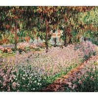 Garden At Giverny Poster by Monet