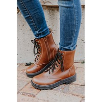 Evelyn Boots - Brown