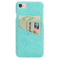 CROC PHONE CARD HOLDER CASE AQUA