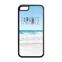 First Design Custom Funny Paradise Beach Hipster Quotes Unique Best Durable PC and SILICONE IPHONE 5C Case