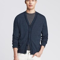 Banana Republic Mens Tipped Cotton Cardigan