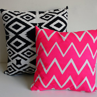 Truly Outrageous  organic chevron screen printed by EarthCadets