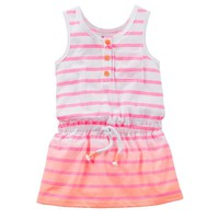 Carter's Dip-Dye Stripe Tunic Tank - Toddler Girl, Size: