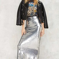 Glam to the Bone Sequin Skirt