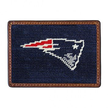 New England Patriots Needlepoint Credit Card Wallet by Smathers & Branson