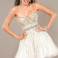 Sequined Sweetheart Dress by Jovani Homecoming