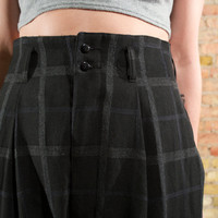 donna 90s vintage plaid pants s / m highwaisted pleated pants / minimalist trousers / menswear pants / slouchy pants / baggy pants
