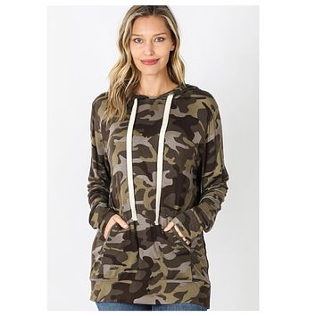 Camouflage Classic Hooded Top - Army Camo