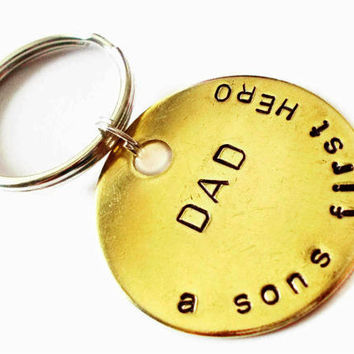 Personalized Keychain, Custom Keychain, Fathers Day, New Daddy, Father son, Gift Ideas, For Him