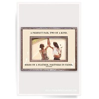 A Perfect Pair, Two Of A Kind Copper & Glass Photo Frame