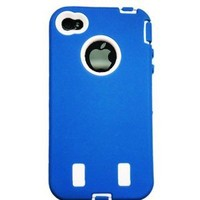 WM iPhone 4 Warrior Case (Blue & White)
