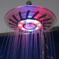 Romantic 4 Mixed-color LED Shower Head Bathroom Sprinkler - Amazon.com
