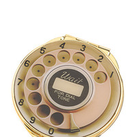 Kate Spade Telephone Dial Compact Mirror Gold ONE