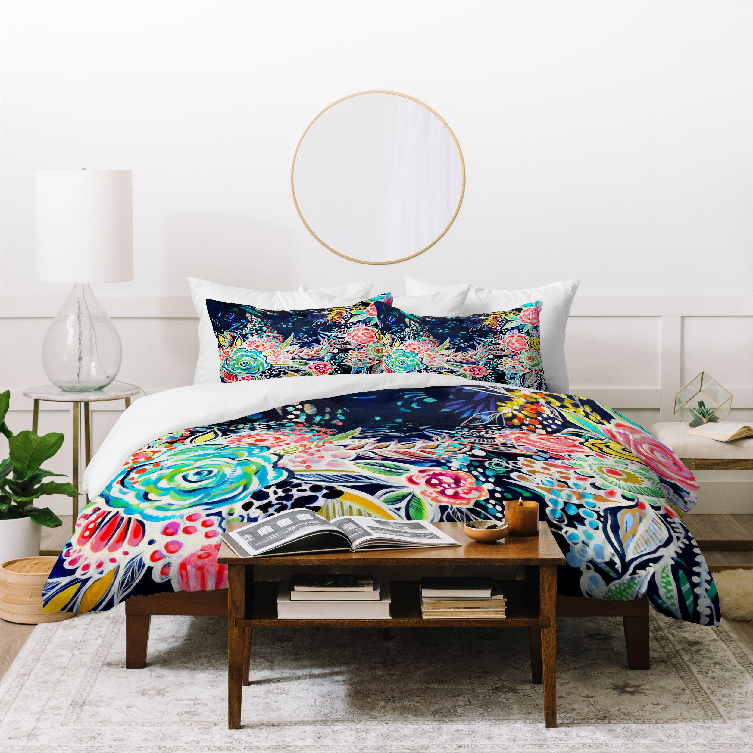 Image of Stephanie Corfee Night Bloomers Duvet Cover
