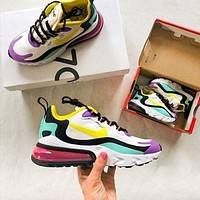Air Max 270 Nike React Colorblock Barb & Hook Rear Air Cushioning Running Shoes