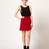 The Style Scallop Edge Skirt at asos.com