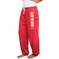 Detroit Red Wings Ladies Fleece Pants - Red