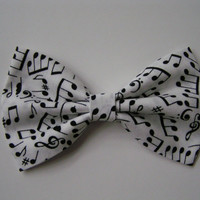 Musical Notes Hair Bow for kids adults, Fabric Hair Bows, Hair Bows for teens, big red bow