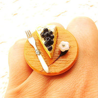 Cake Ring Blueberry Cheesecake Flower A by SouZouCreations on Etsy