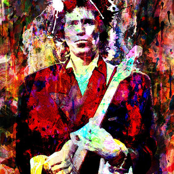 Keith Richards Art - The Rolling Stones