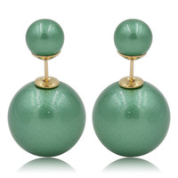 Gum Tee Mise en Style Tribal Earrings - Venetian Green