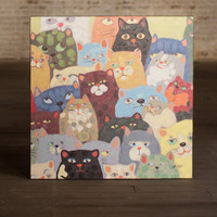Oil Painting - Cats, Cats, Cats