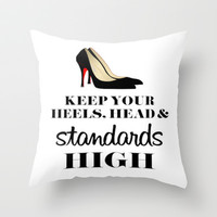Heels & Standards Throw Pillow by LuxuryLivingNYC
