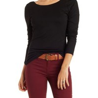Scoop Neck Plunging Back Tee by Charlotte Russe
