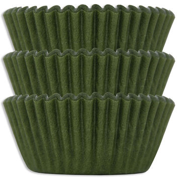 Olive Green Baking Cups