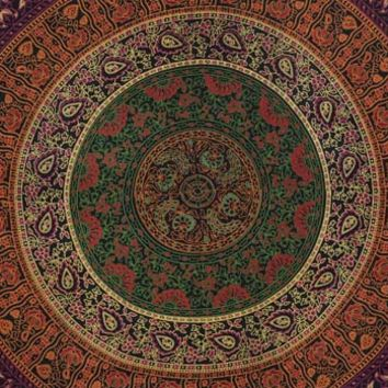 Traditional Mandala Tapestry